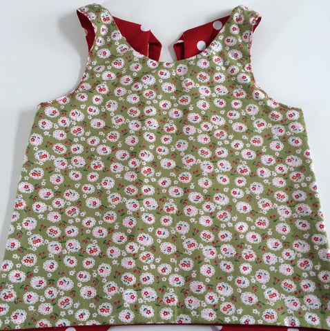 Funky Monkey Smock Dress - Flowers & Cherries