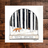 Woodland Christmas Cards - Pack of 3