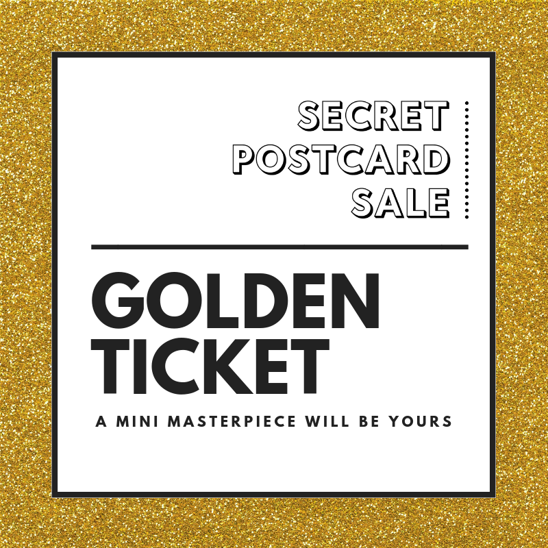 Secret Postcard Sale - Golden Ticket