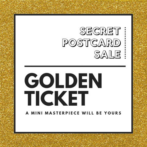 Secret Postcard Sale 2020 - Golden Ticket