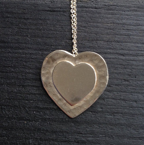 Double Heart pendant necklace