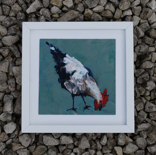 Pecking hen - Original painting