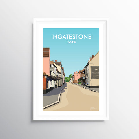 'Ingatestone' Travel Art Print