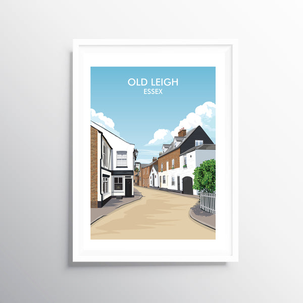'Old Leigh' Travel Art Print