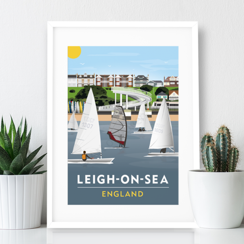 Leigh on Sea Poster Print - Gypsy Bridge
