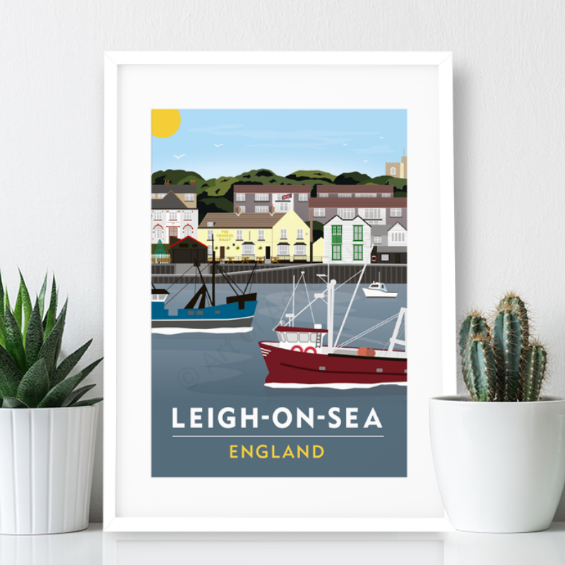 Leigh on Sea Poster Print - Old Leigh