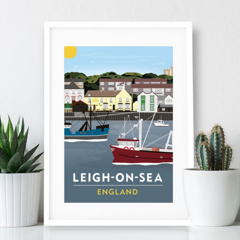 Leigh on Sea Poster Print