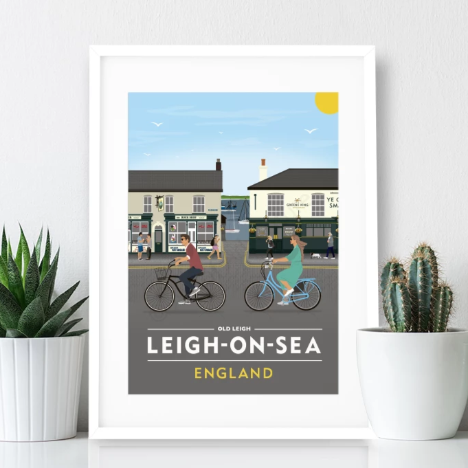 Leigh on Sea Poster Print - Old Leigh High Street