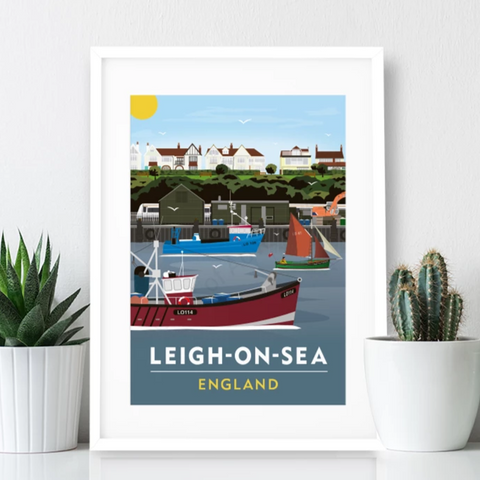 Leigh on Sea Poster Print - Cockle Sheds
