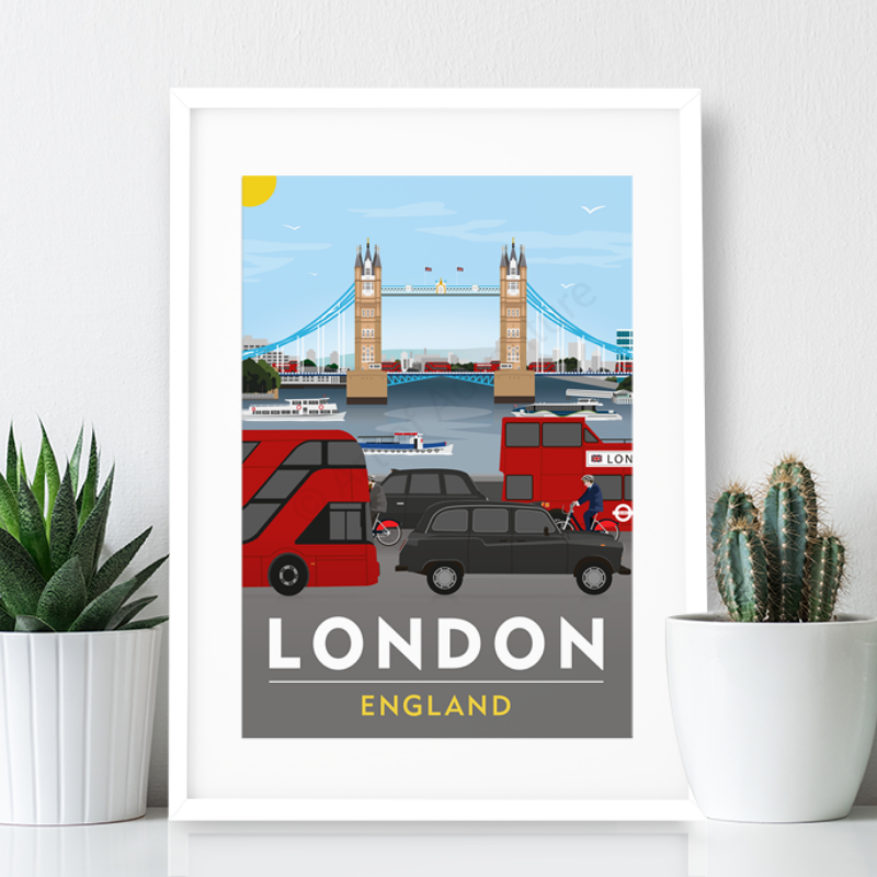 London Poster Print - Tower Bridge