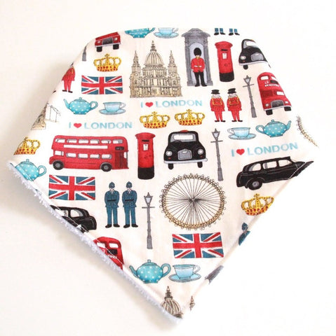 Bandana Dribble Bib - London print