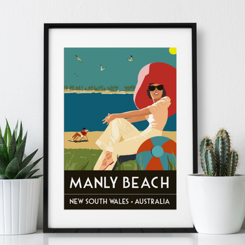 Manly Beach Poster Print