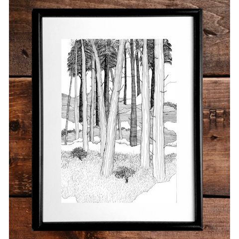 Moonlight Forest Print