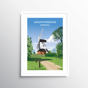 'Mountnessing Windmill' Travel Art Print