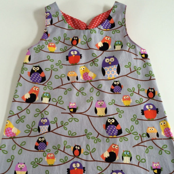 Funky Monkey Smock Dress - Owl print