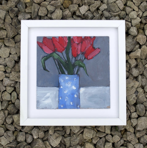 Red tulips - Original painting