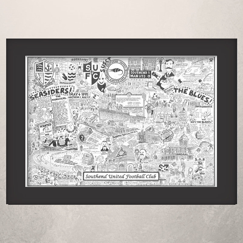 Southend United Football Club (SUFC) Illustrated History print