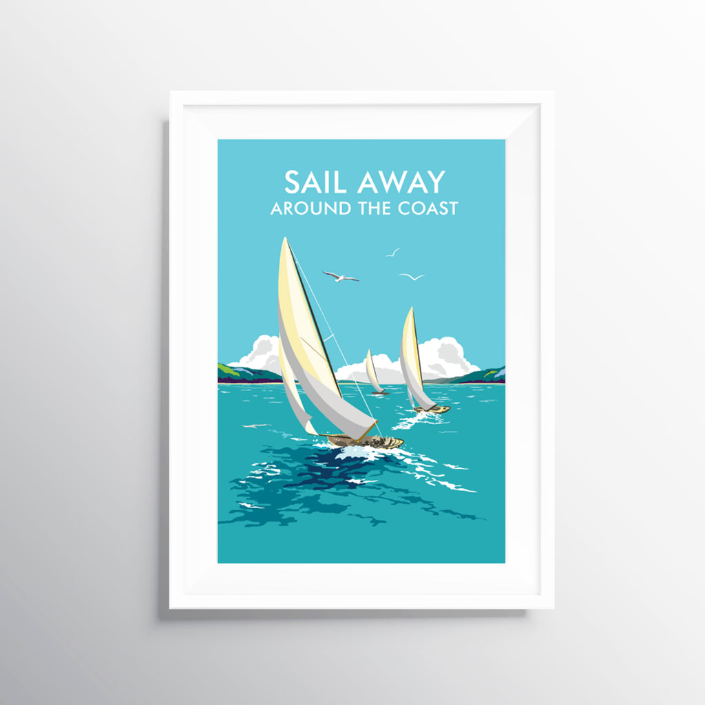 'Sail Away' Travel Art Print