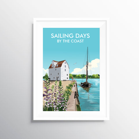 'Sailing Days' Travel Art Print
