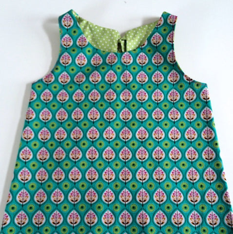 Funky Monkey Smock Dress - Scandi flowers