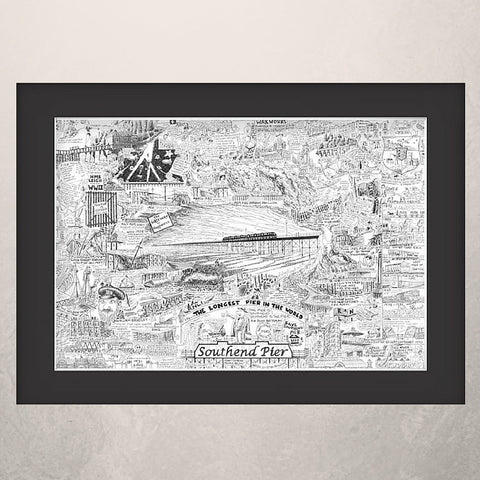 Southend Pier Illustrated History print