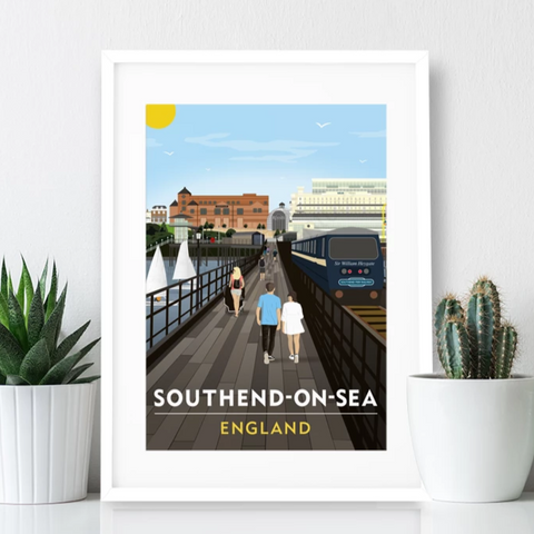 Southend on Sea Poster Print - Southend Pier