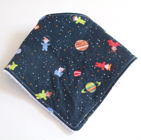 Bandana Dribble Bib - Space kids print