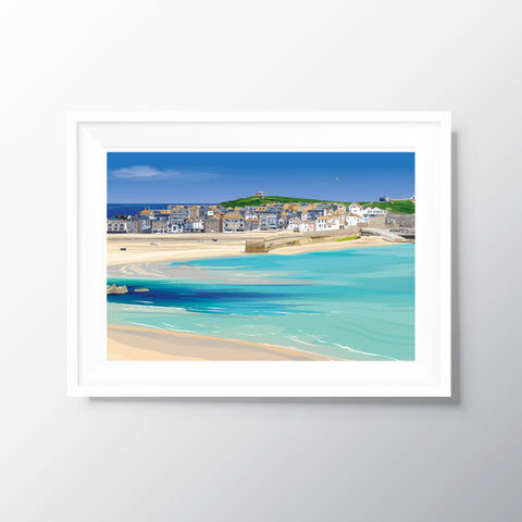 'St Ives' Travel Art Print