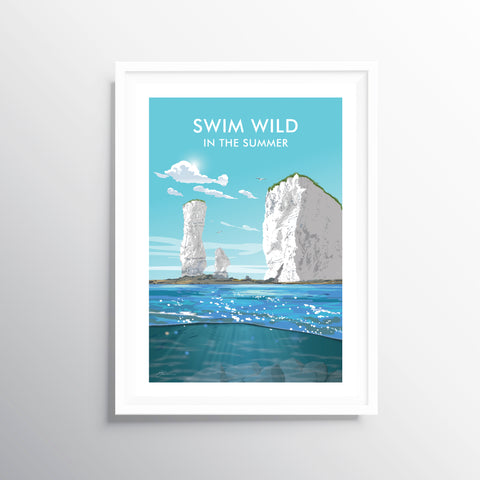 'Swim Wild' Travel Art Print