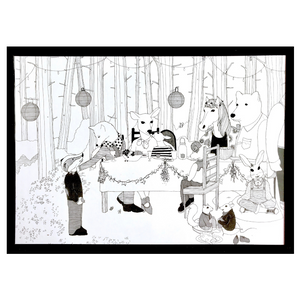 Woodland Picnic Prints - Set of 3
