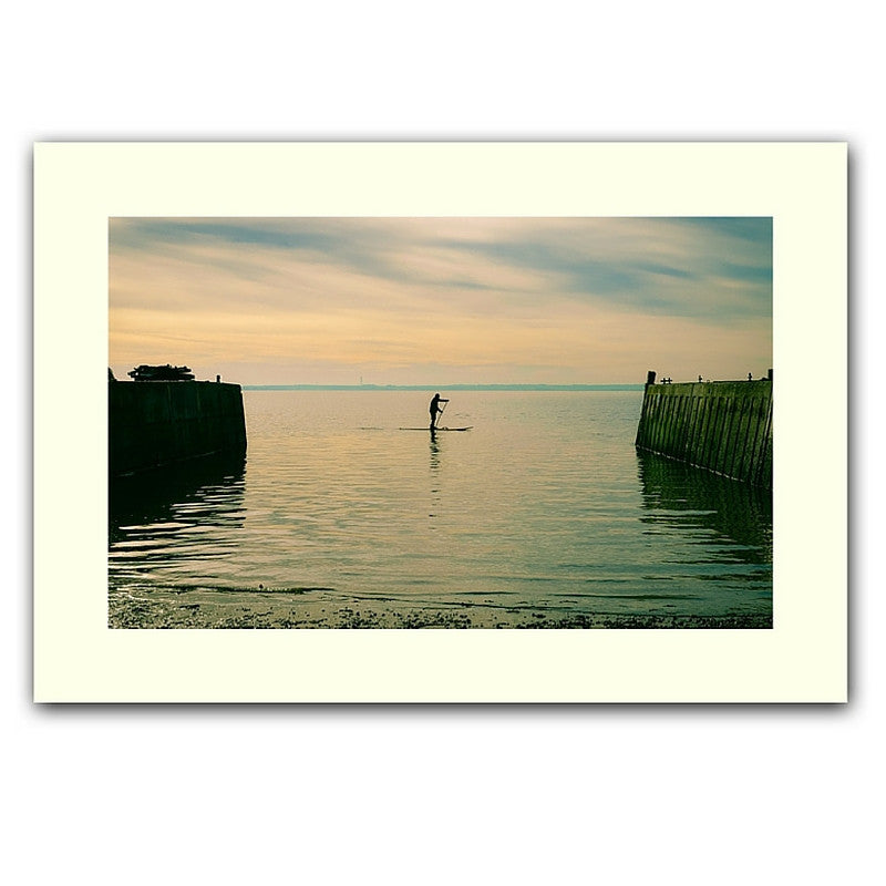 'Morning paddle' print