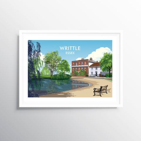 'Writtle' Travel Art Print