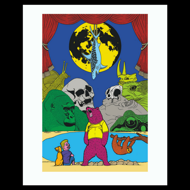 Yellow Moon II (Bear) print