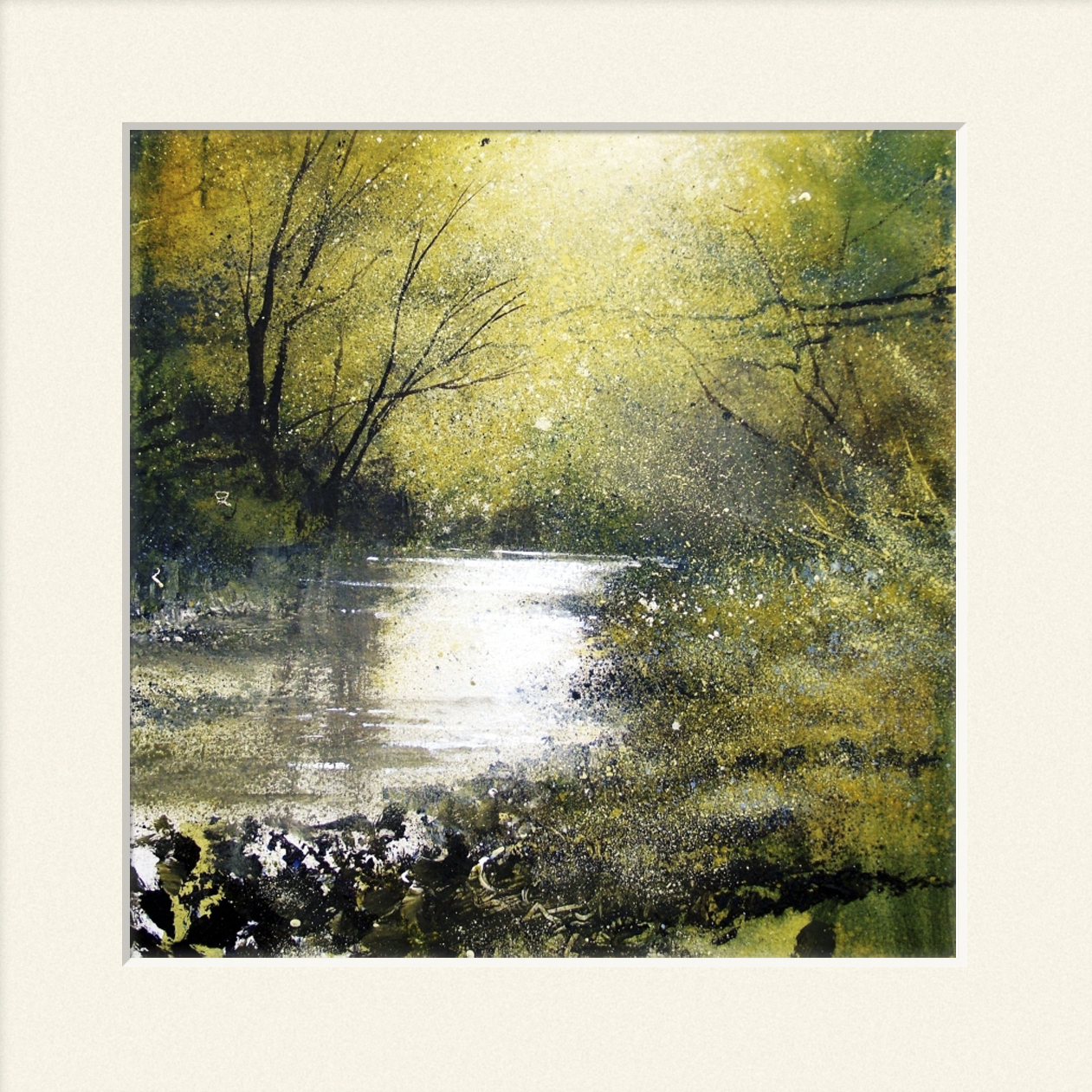 'Warm day on the river' print