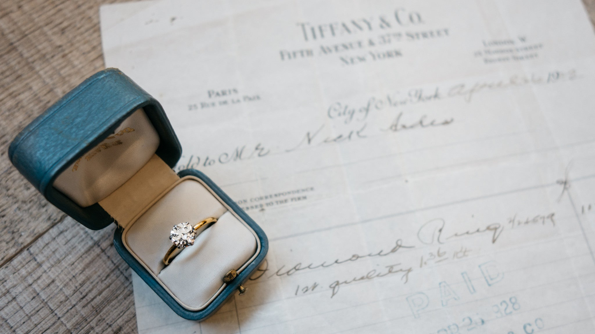 Vintage Tiffany Amp Co Solitaire With Provenance