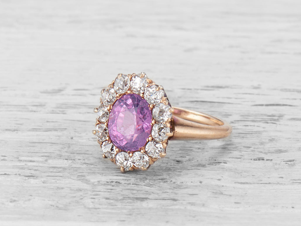 vintage-pink-sapphire-engagement-ring