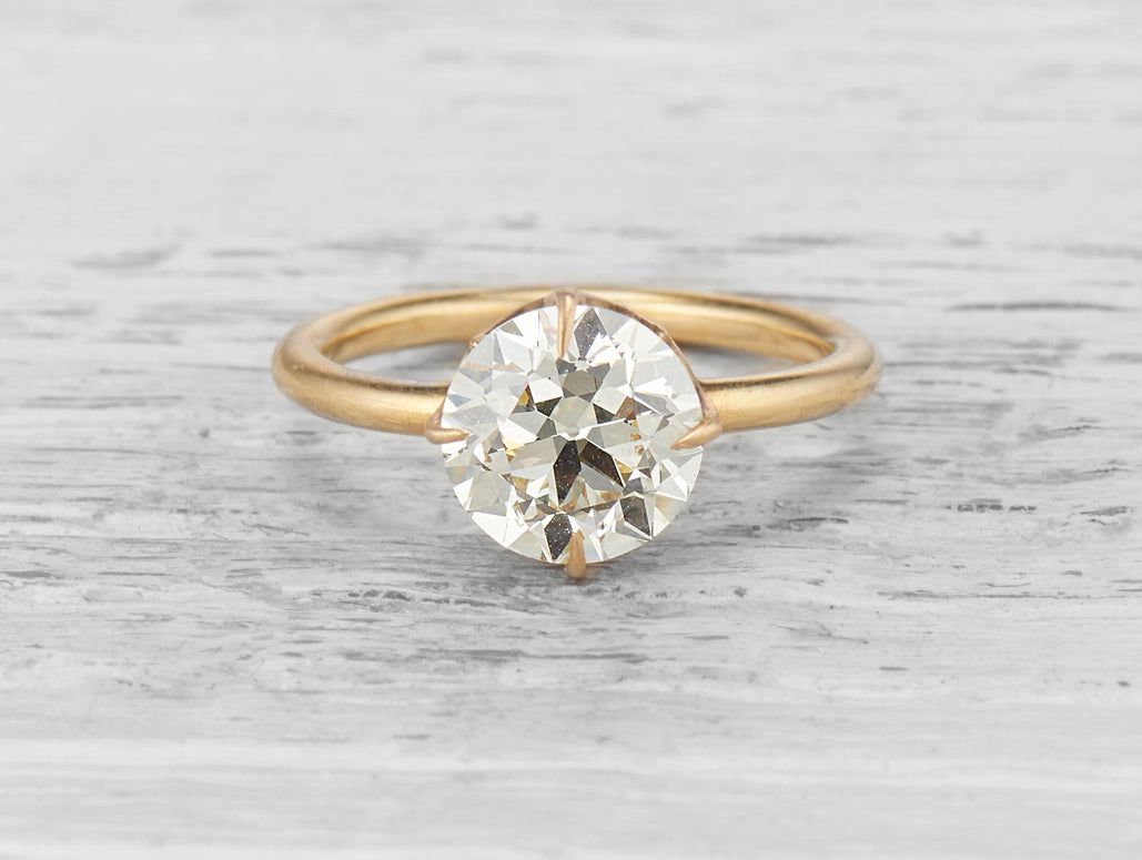 vintage-gold-diamond-solitaire-engagement-ring