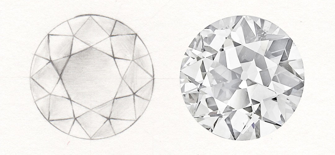 facet pin perspective diamond facets pinterest