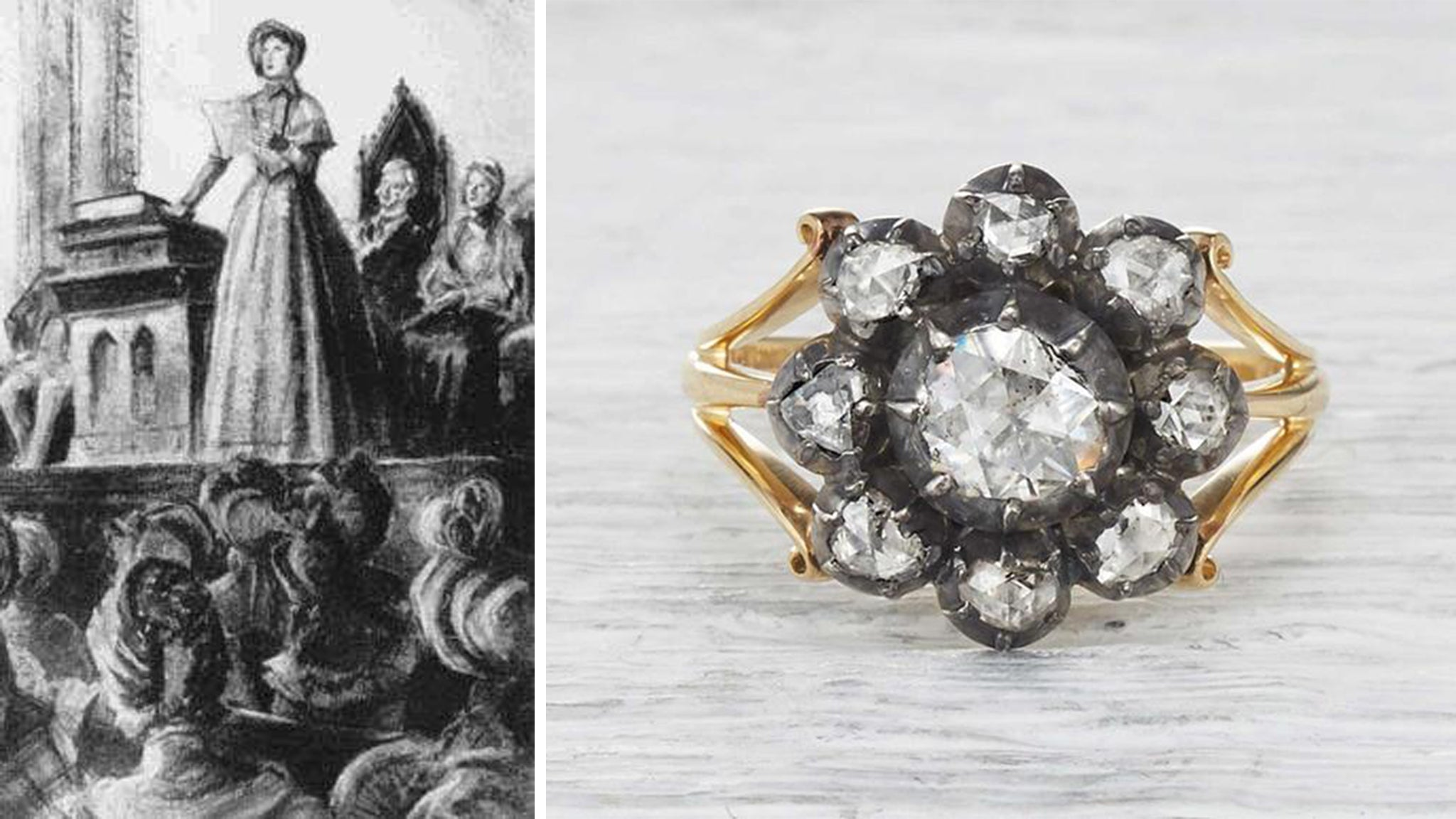 Georgian Ring Worn by Woman in the 1840s