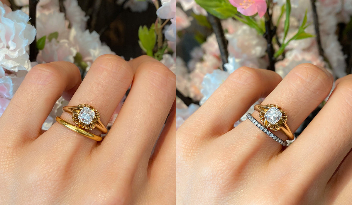 Pairing Your Wedding Band To Your Vintage Engagement Ring Erstwhile