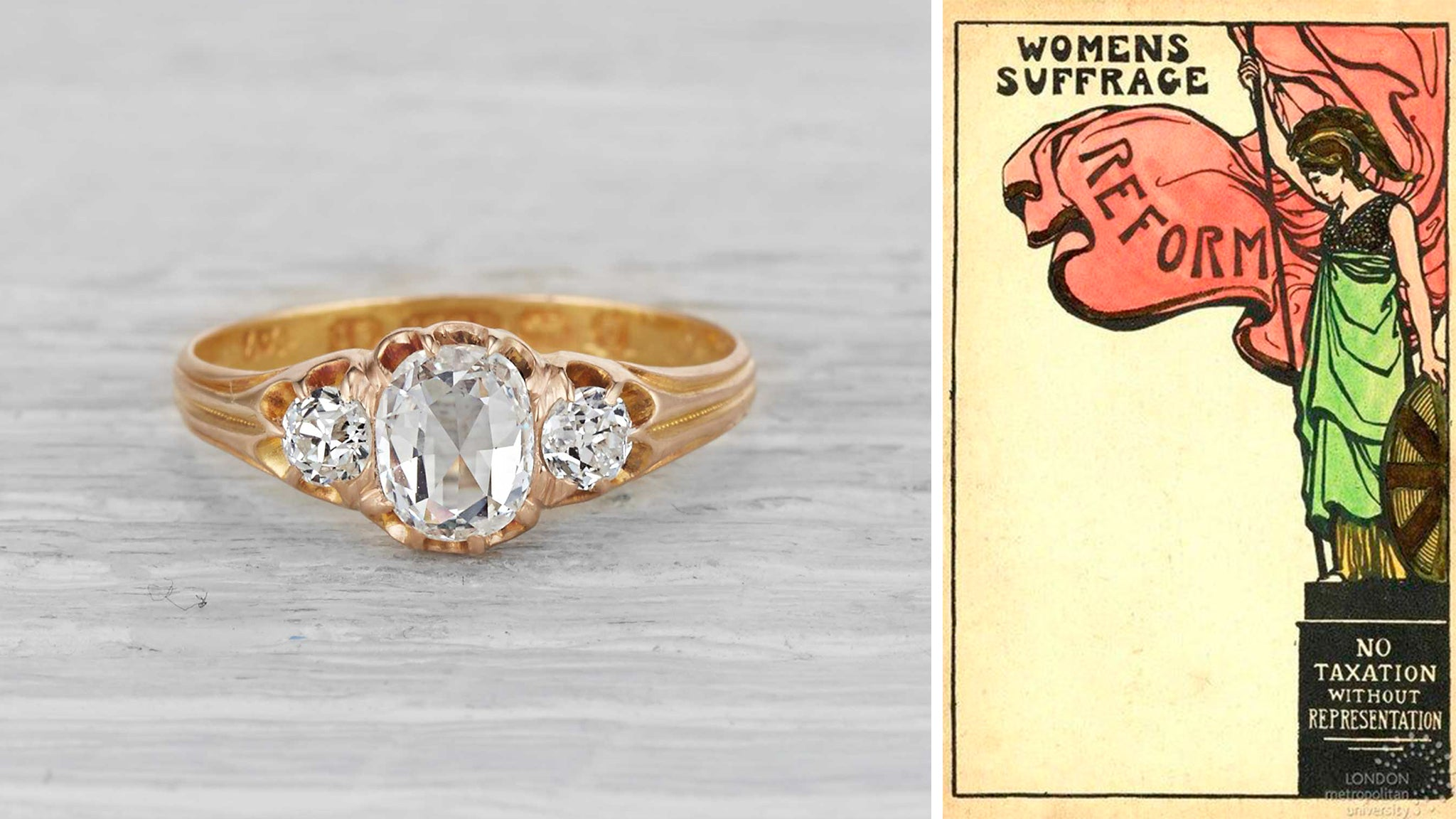Victorian Ring Worn by Woman in 1890