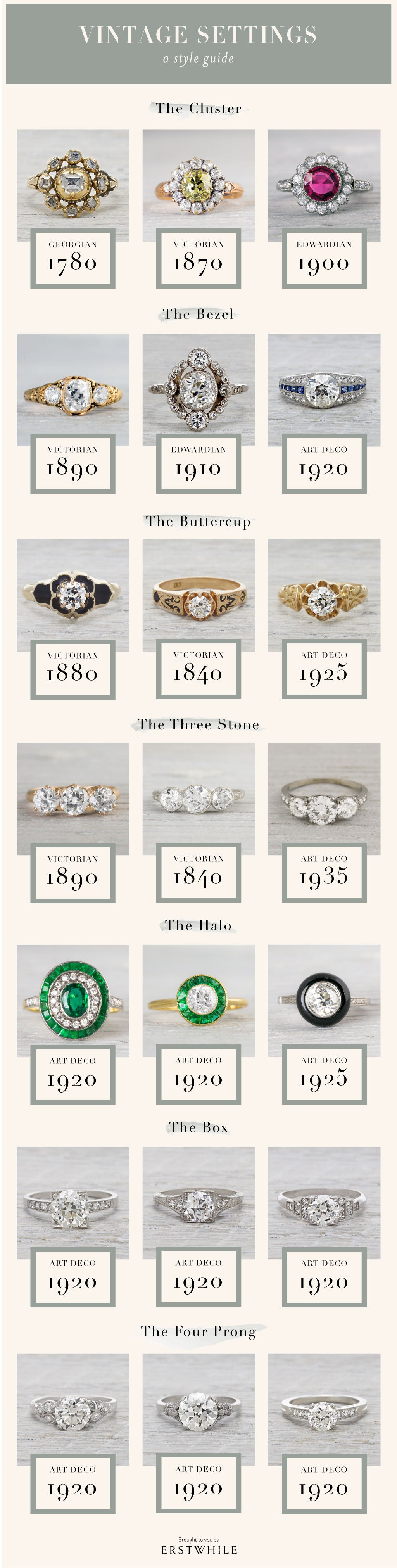 married antique couple wedding pre the bands ring ideas rings diamond set for