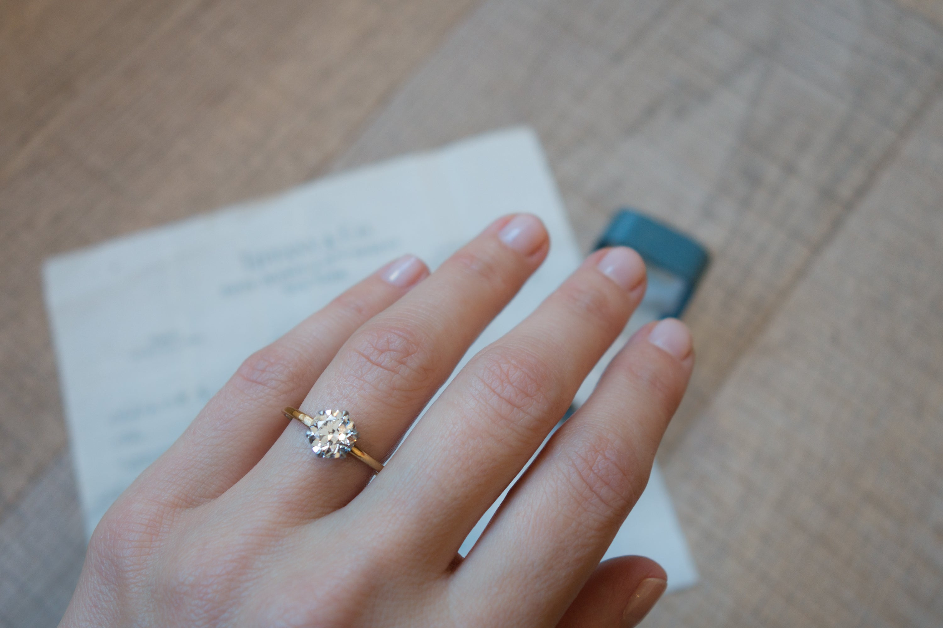 lotfinder tiffany details co diamond antique emerald ring an jewelry lot by nyr and rings