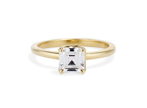 Asscher Four Prong Solitaire