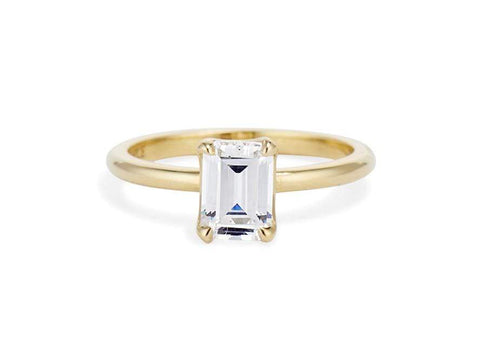 Classic Emerald Cut Four-Prong Solitaire 1.04