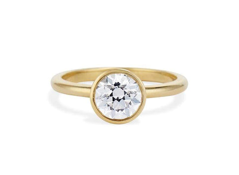 Classic Old European Cut Bezel Solitaire 1.21