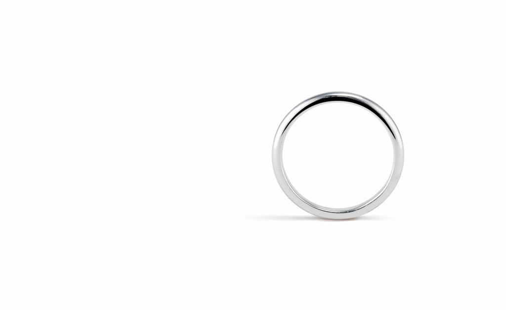 Platinum Hoop - 2mm