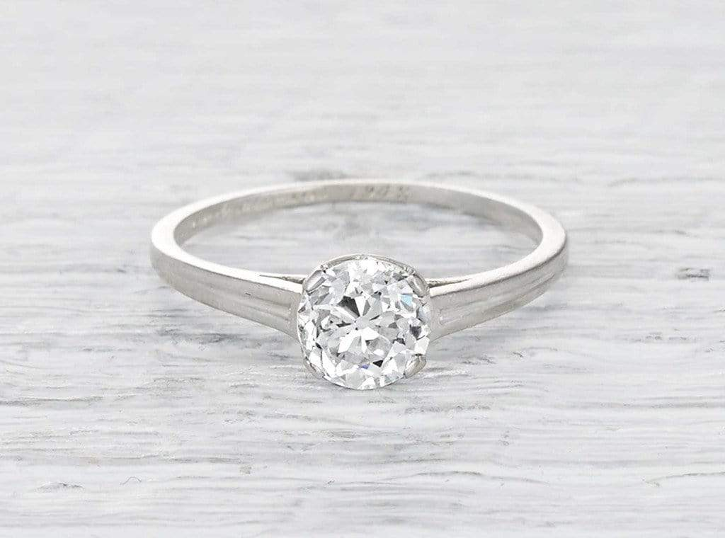 1.04 Carat Art Deco Tiffany & Co.Engagement Ring