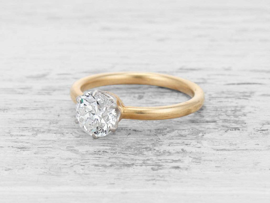 1.28 CARAT TIFFANY & CO ANTIQUE SOLITAIRE ENGAGEMENT RING