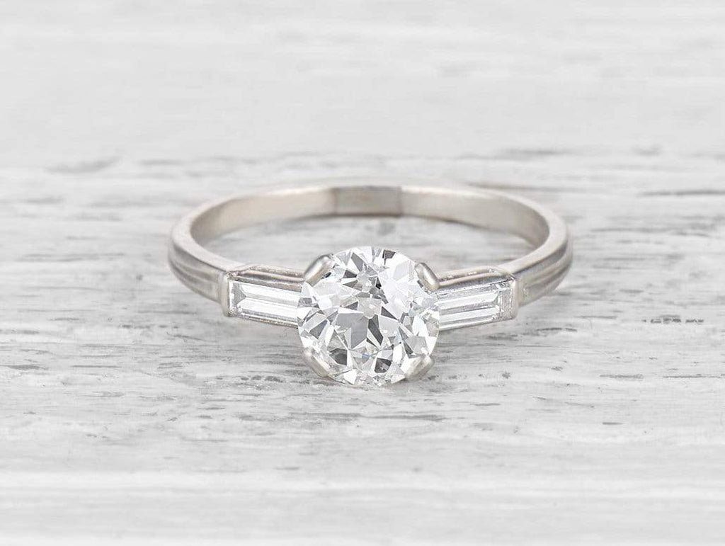 1.29 CARAT TIFFANY ART DECO DIAMOND ENGAGEMENT RING